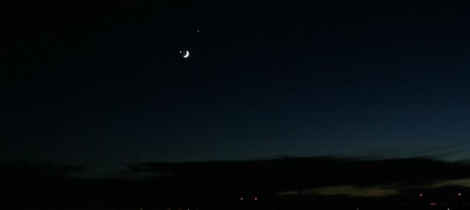 Zákryt Venuše Mesiacom v konjunkcii s Jupiterom